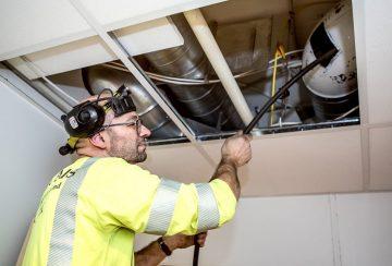 Rensing av ventilasjonskanaler utført av Vegard Mathisen