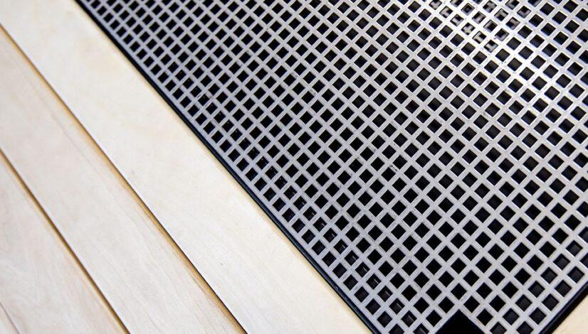Detalj firkantgrill grillrist